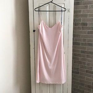 Volcom Mojo Dojo Slip Dress in Light Pink Size 12